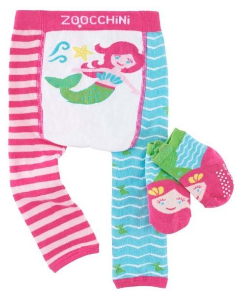 Baby Leggings & Socken Set - Marietta die Meerjungfrau (12-18M)