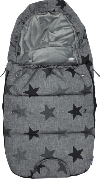 Dooky Footmuff/Fußsack - Grey Stars - Small - Melange neue version