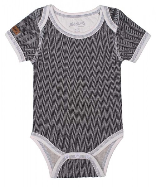 Cottage Collection - Body Baumwolle (Bio) - Bear Black (S/3-6 M./5-7 kg)