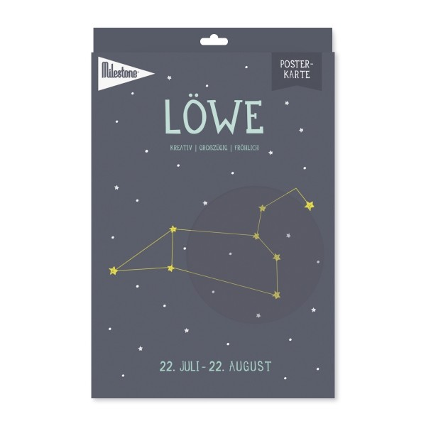 Milestone™ Sternzeichen-Posterkarte / Löwe