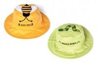 Wendbarer Sonnenhut mit UV-Schutz - Biene/Würmchen