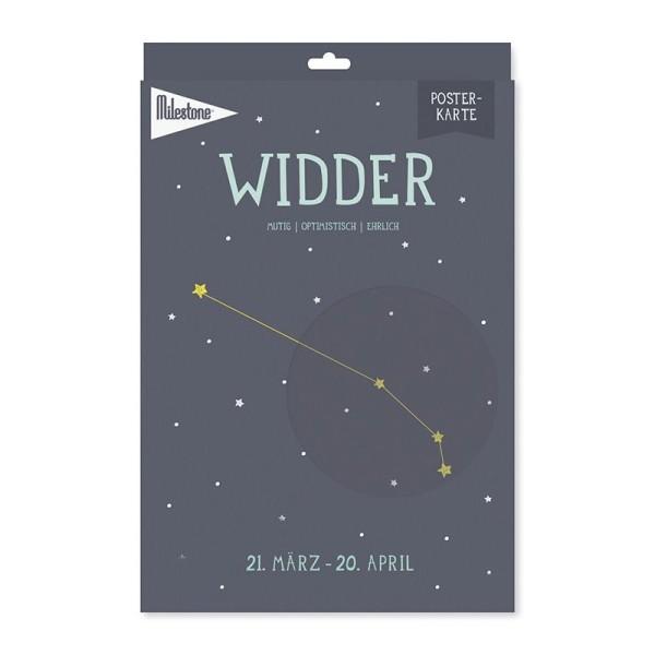 Milestone™ Sternzeichen-Posterkarte / Widder