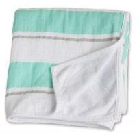 Childhood Blanket Kinderdecke - Aqua Stripe