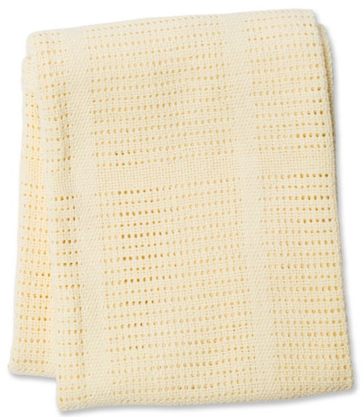 Baumwoll Strickdecke Yellow