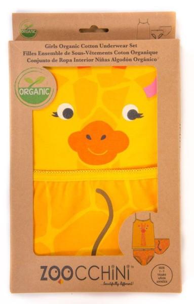 Girls Unterwäsche-Set aus Bio-Baumwolle (4-5 J.) - Giraffe