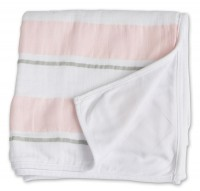Childhood Blanket Kinderdecke - Pink Stripe