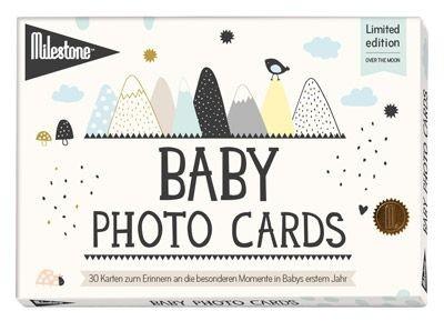 Baby Photo Cards von Milestone™- Over the moon - deutsche Version - Einzelset