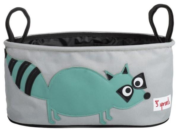 3 Sprouts - Kinderwagentasche / Waschbär