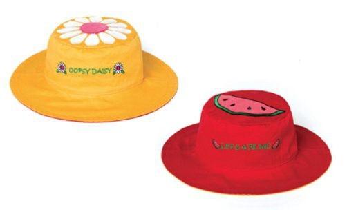Wendbarer Sonnenhut mit UV-Schutz - Gänseblümchen/Wassermelone