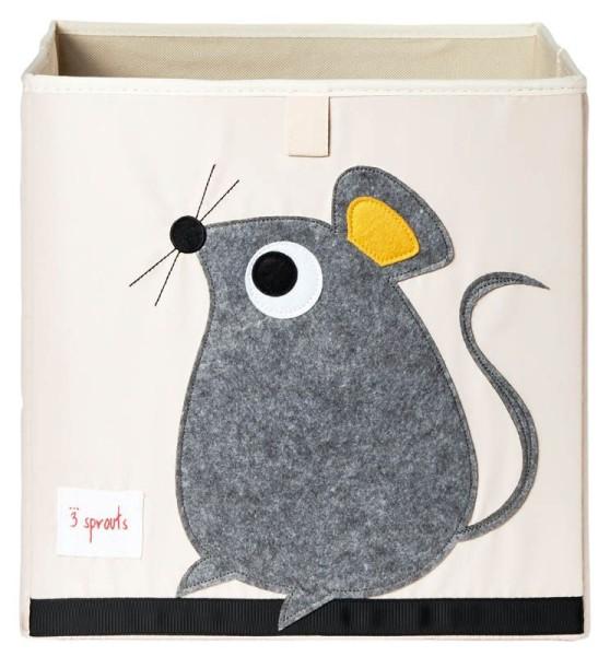 3 Sprouts - Aufbewahrungsbox für Kinderzimmer / faltbar / Maus