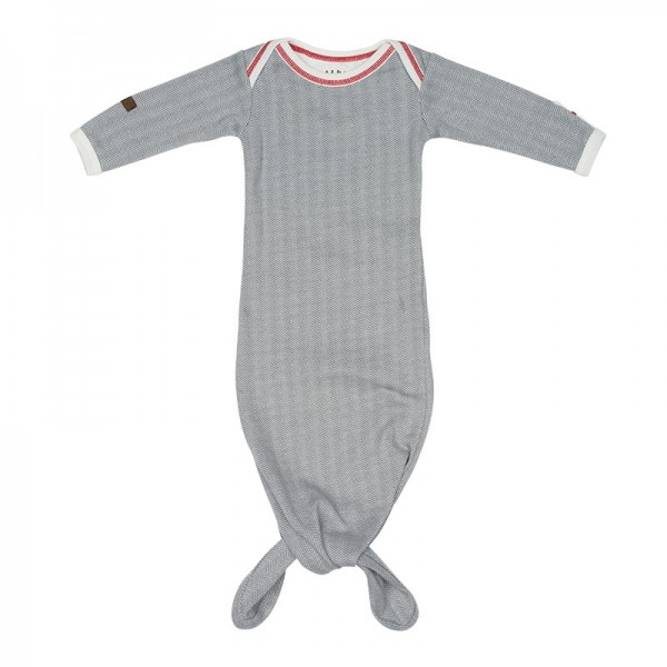 Juddlies Cottage Collection - Babyschlafrock/Strampler Baumwolle (Bio) / Driftwood Grey (0-3 M)