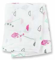 Bamboo Swaddle Mulltuch - Pink Kite