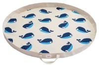 Spielzeugmatte / Spielzeugsack - Wal blau