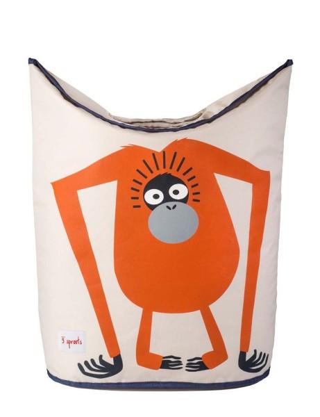 3 Sprouts - Wäschekorb für Kinderzimmer / faltbar / Orang-Utan