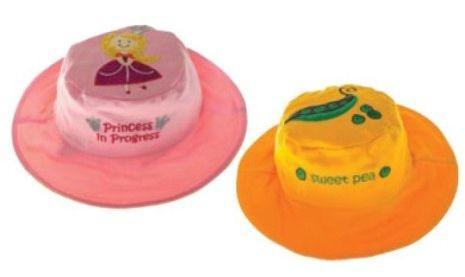Wendbarer Sonnenhut mit UV-Schutz - Prinzessin/süße Erbse