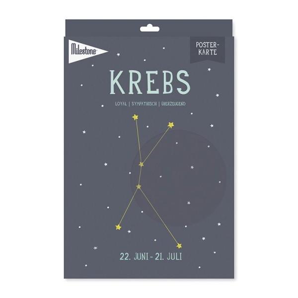 Milestone™ Sternzeichen-Posterkarte / Krebs