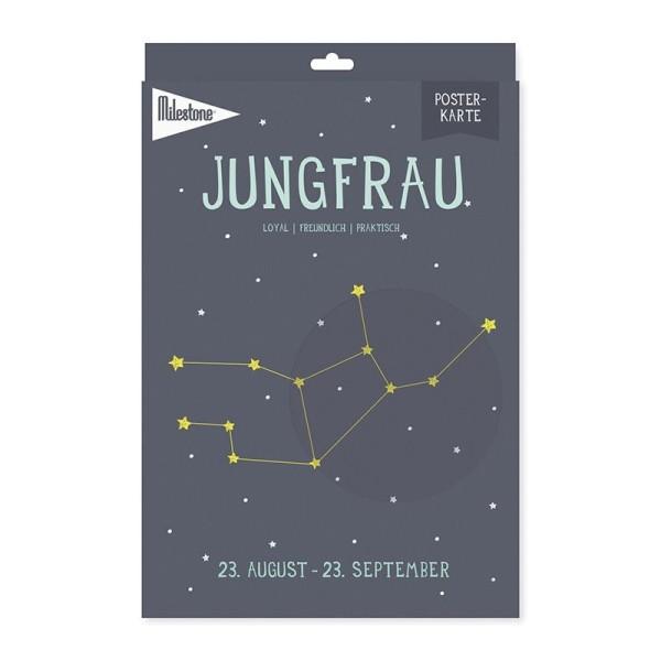 Milestone™ Sternzeichen-Posterkarte / Jungfrau