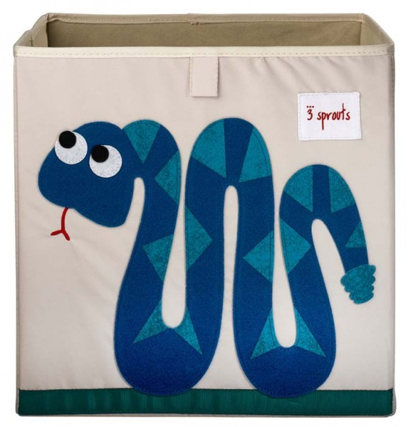 3 Sprouts - Aufbewahrungsbox für Kinderzimmer / faltbar / Schlange
