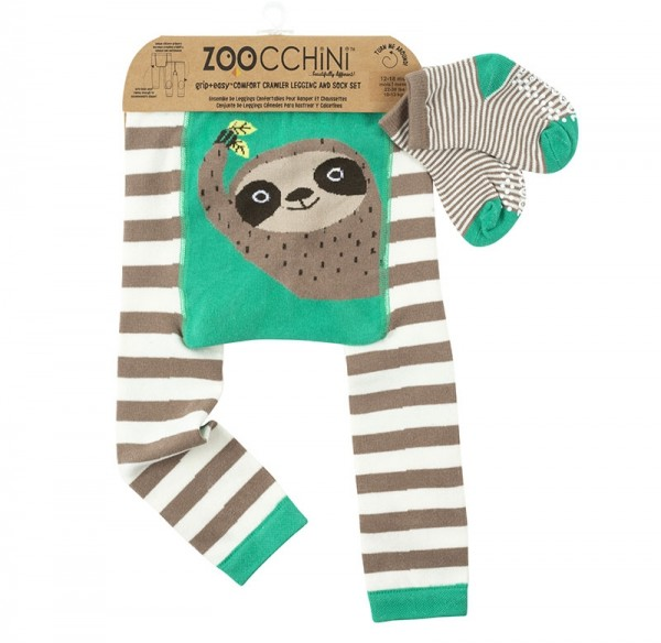 Baby Leggings & Socken Set - Silas das Faultier (12-18M)
