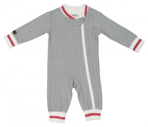 Cottage Collection - Strampler Baumwolle (Bio) - Driftwood Grey (M/6-12 M./7-10 kg)