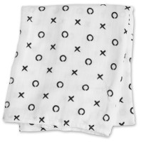 Bamboo Swaddle Mulltuch (modern collection) - Hugs & Kisses