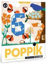 Poppik Stickerposter - Panorama (1 Poster + 520 Sticker) / 123 (3-7 J.)