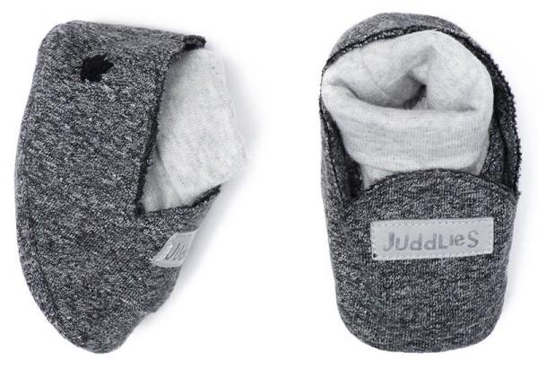 Juddlies Raglan Collection - Babyschuhe Baumwolle (Bio) / Graphit Black (0-4 M)