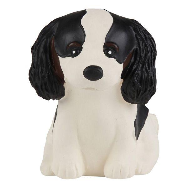 HEVEA Babyspielzeug - Greifling Hund / Cavalier King Charles / Naturkautschuk