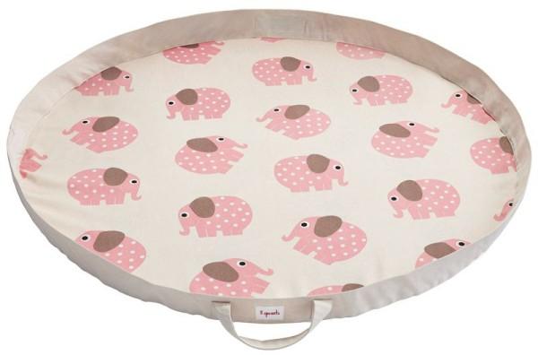 Spielzeugmatte / Spielzeugsack - Elefant pink