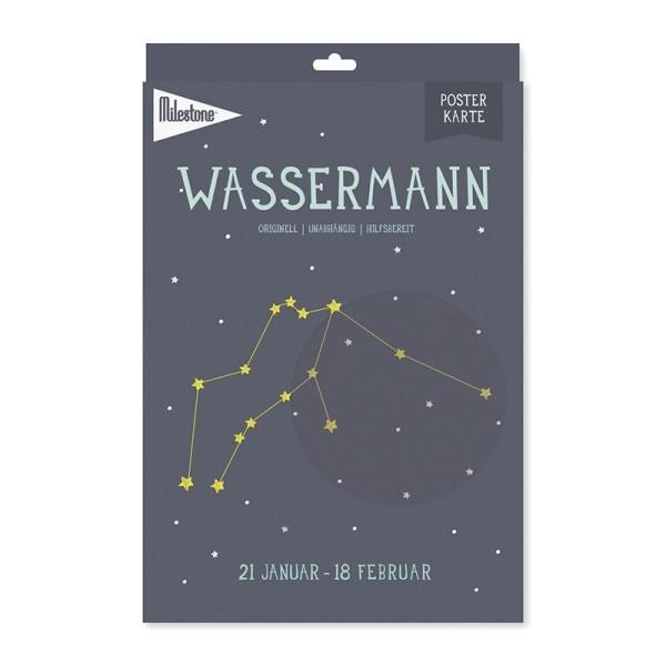 Milestone™ Sternzeichen-Posterkarte / Wassermann