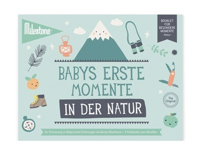 Milestone™ Booklet Baby-Fotokarten / Natur / 6 Karten