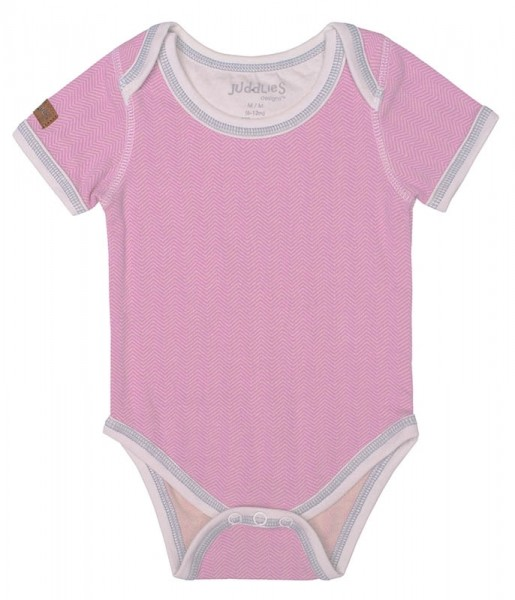 Cottage Collection - Body Baumwolle (Bio) - Sunset Pink (S/3-6 M/5-7 kg)