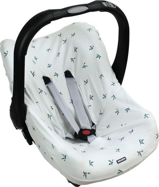 Dooky Seat Cover 0+ - Babyschalenbezug / Grau Origami-Schwalben