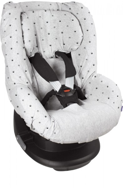 Dooky Seat Cover/Kinderautositzbezug Gruppe 1 - Light Grey Crowns