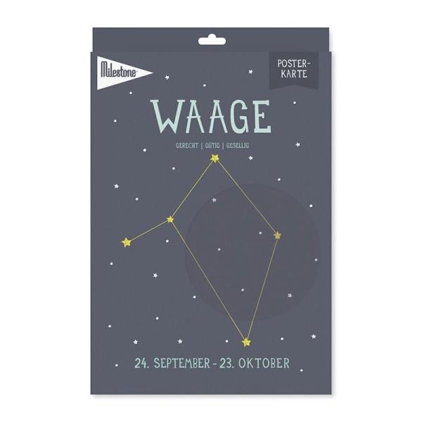 Milestone™ Sternzeichen-Posterkarte / Waage