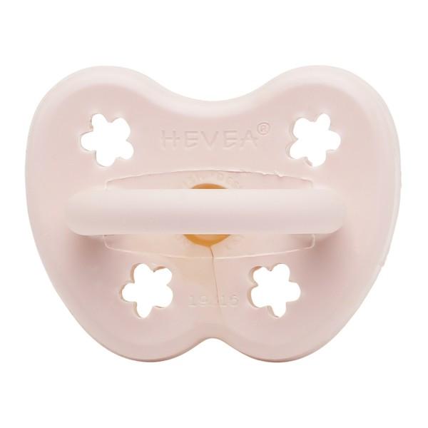 HEVEA Schnuller - Naturkautschuk / Powder Pink / rund / Blume (0-3 Mon.)