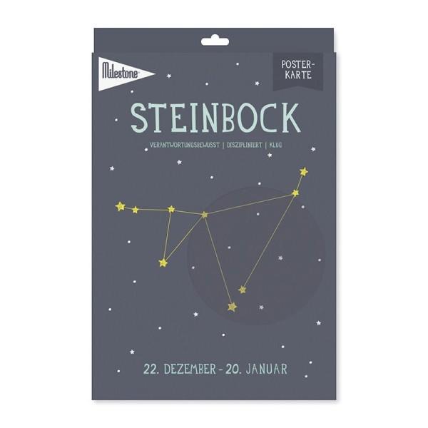 Milestone™ Sternzeichen-Posterkarte / Steinbock