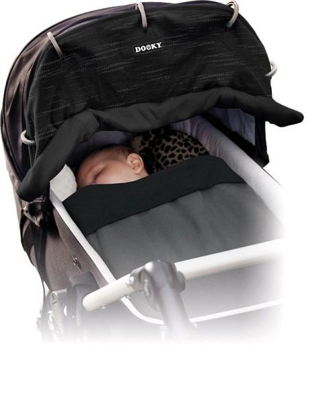 Dooky Universal Cover Design - Sonnenschutz für Kinderwagen / UPF 50+ / Matrix