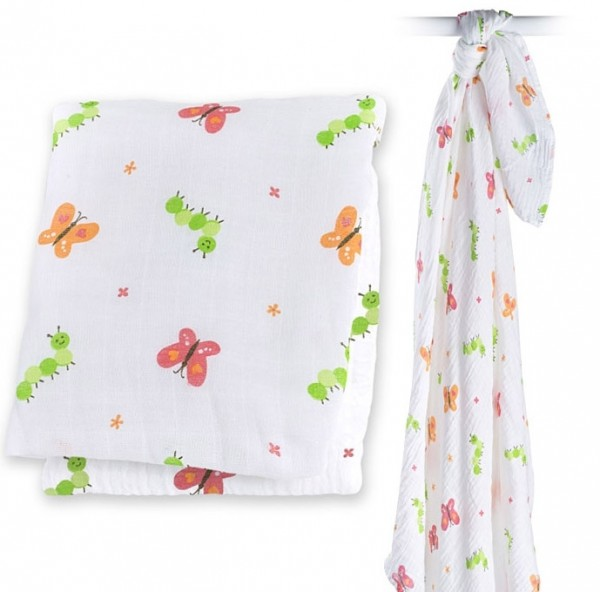 Muslin Swaddle Mulltuch - Garden Party