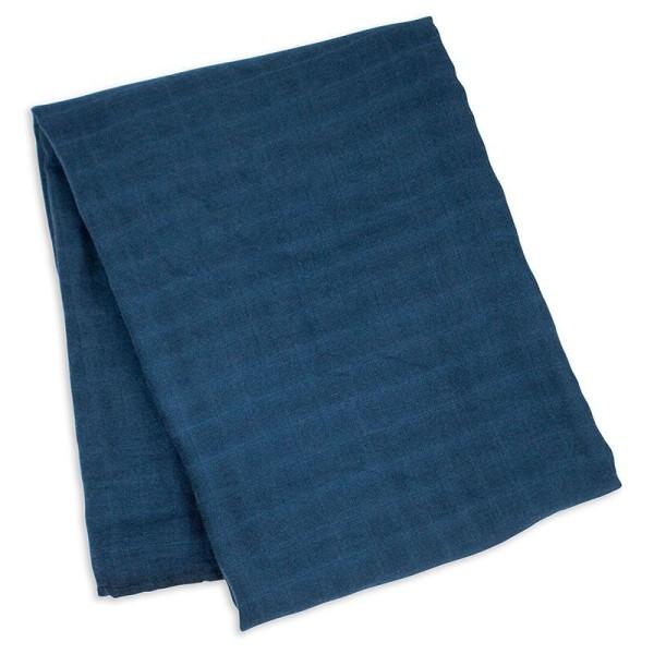 Bamboo Swaddle Blanket - Navy