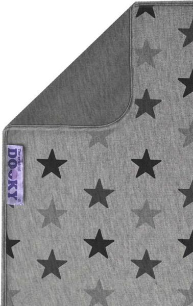 Dooky Blanket - Decke / doppellagig / Graue Sterne/Grau