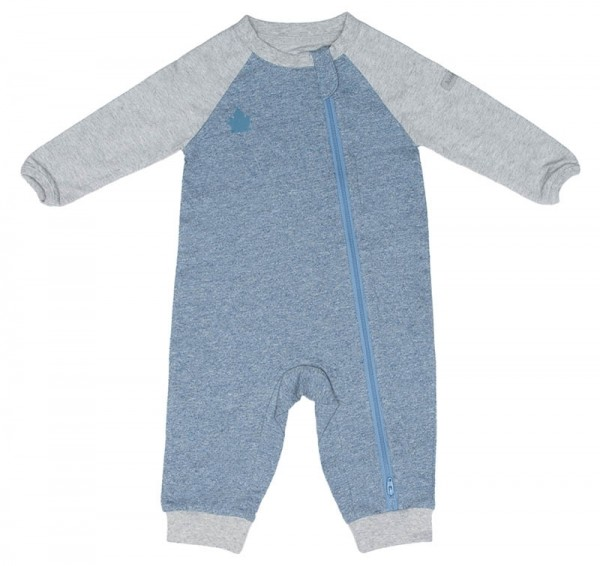 Juddlies Raglan Collection - Strampler Baumwolle (Bio) / Denim Blue (M/6-12 M/7-10,4 kg)