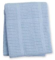 Baumwoll Strickdecke Blue