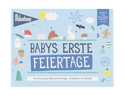 Milestone™ Booklet Baby-Fotokarten / Feiertage / 6 Karten