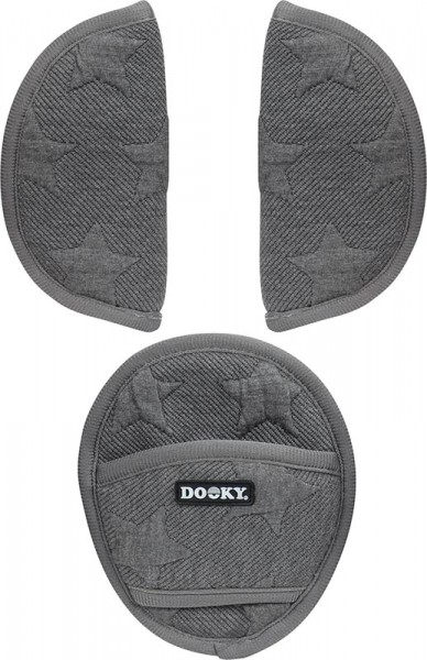 Dooky Universal Pads - Universal-Gurtpolster für die Babyschale / Strick